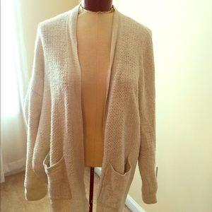 Cream/white Madewell knit cardigan!